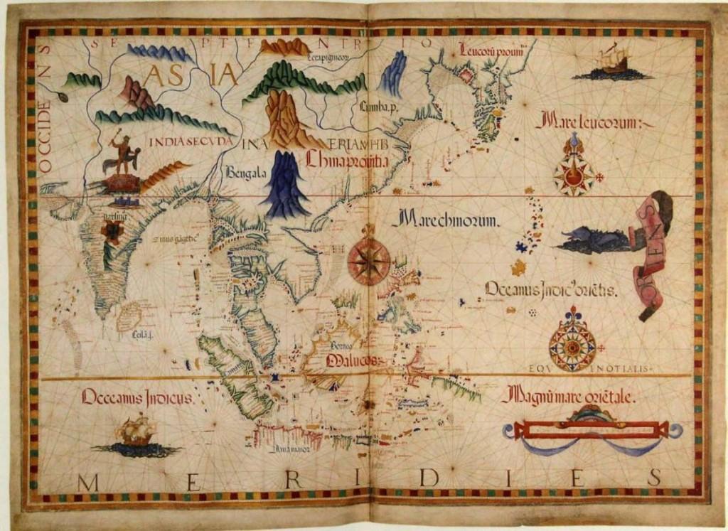 Nusantara pada tahun 1558 oleh Diogo Homem